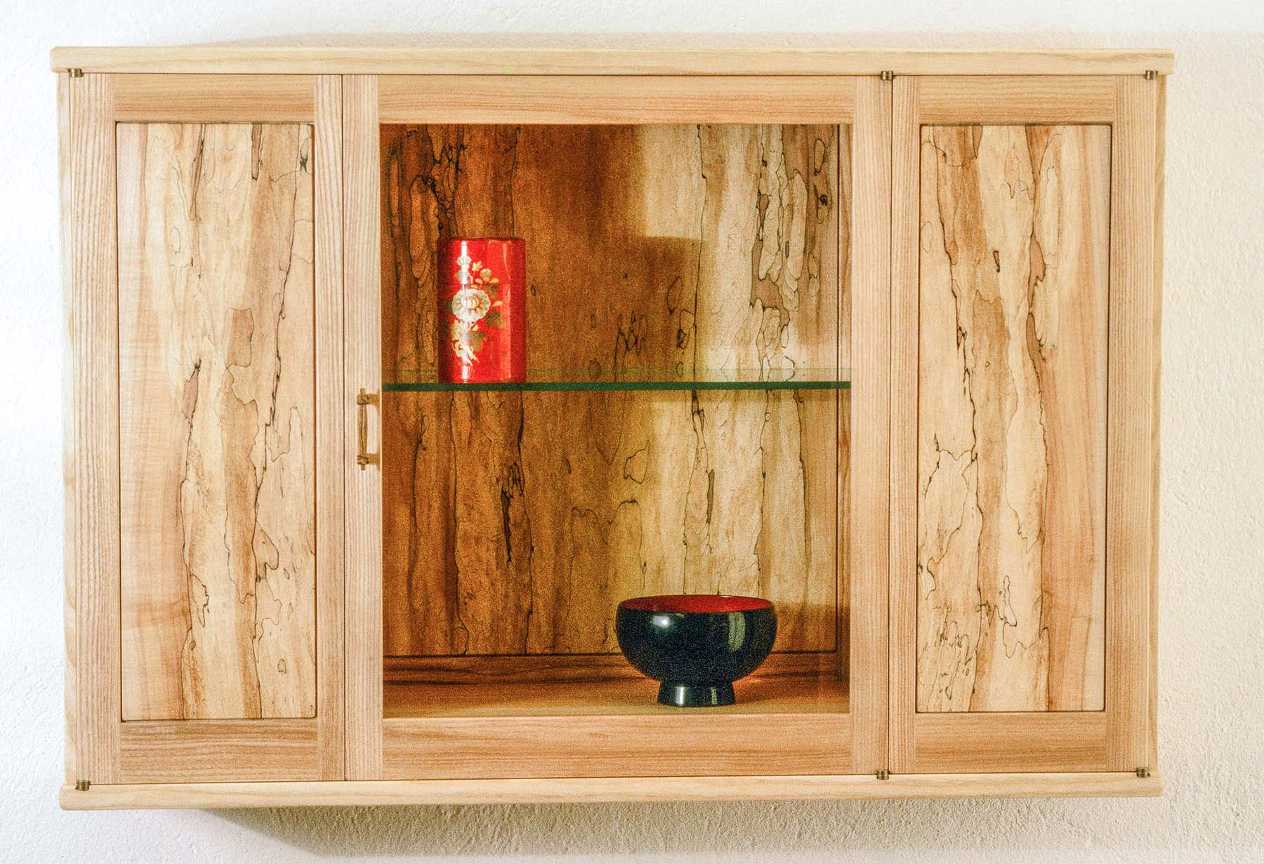Spalted Wall Display Cabinet