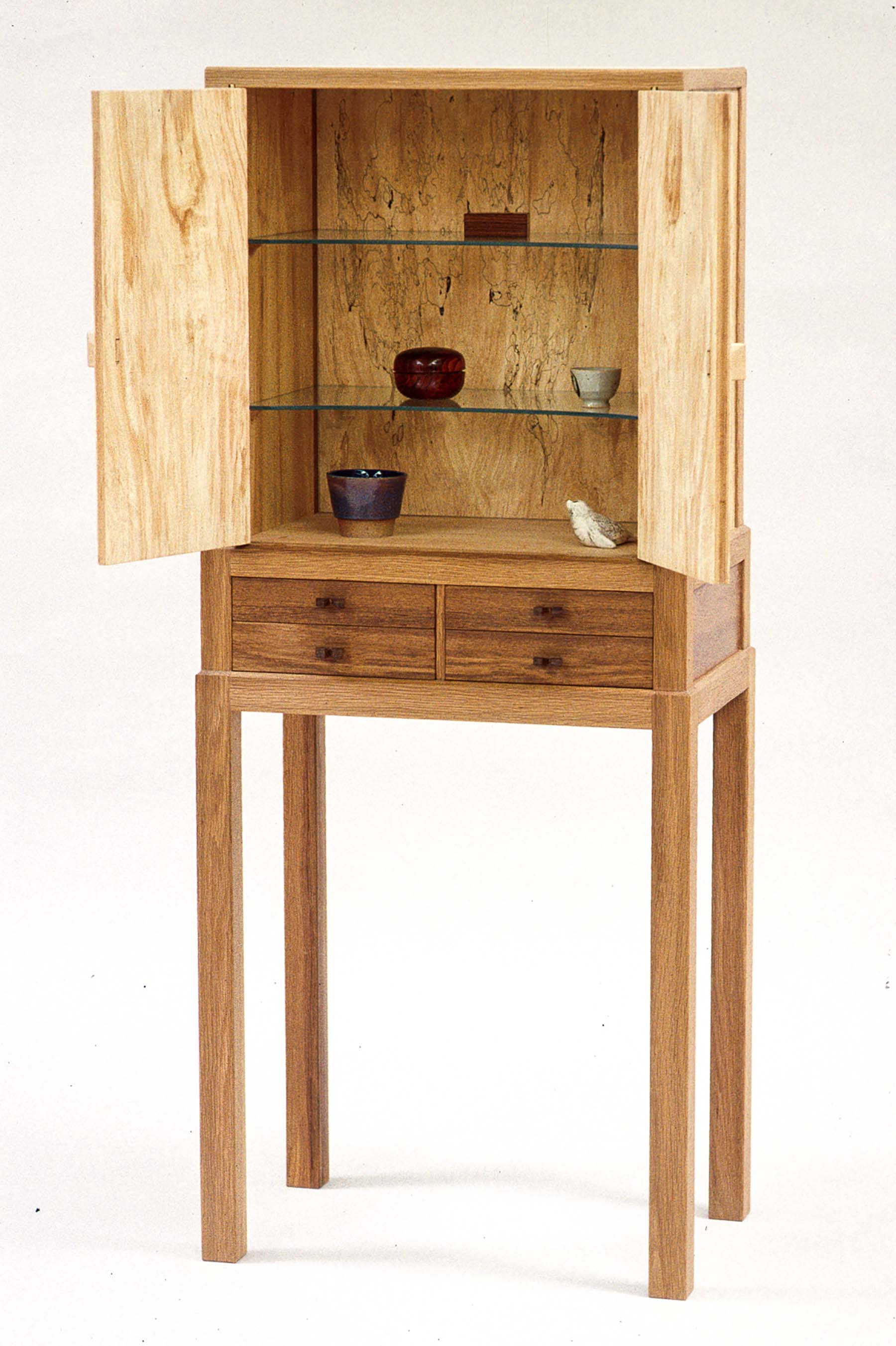 Stepped-Leg Cabinet