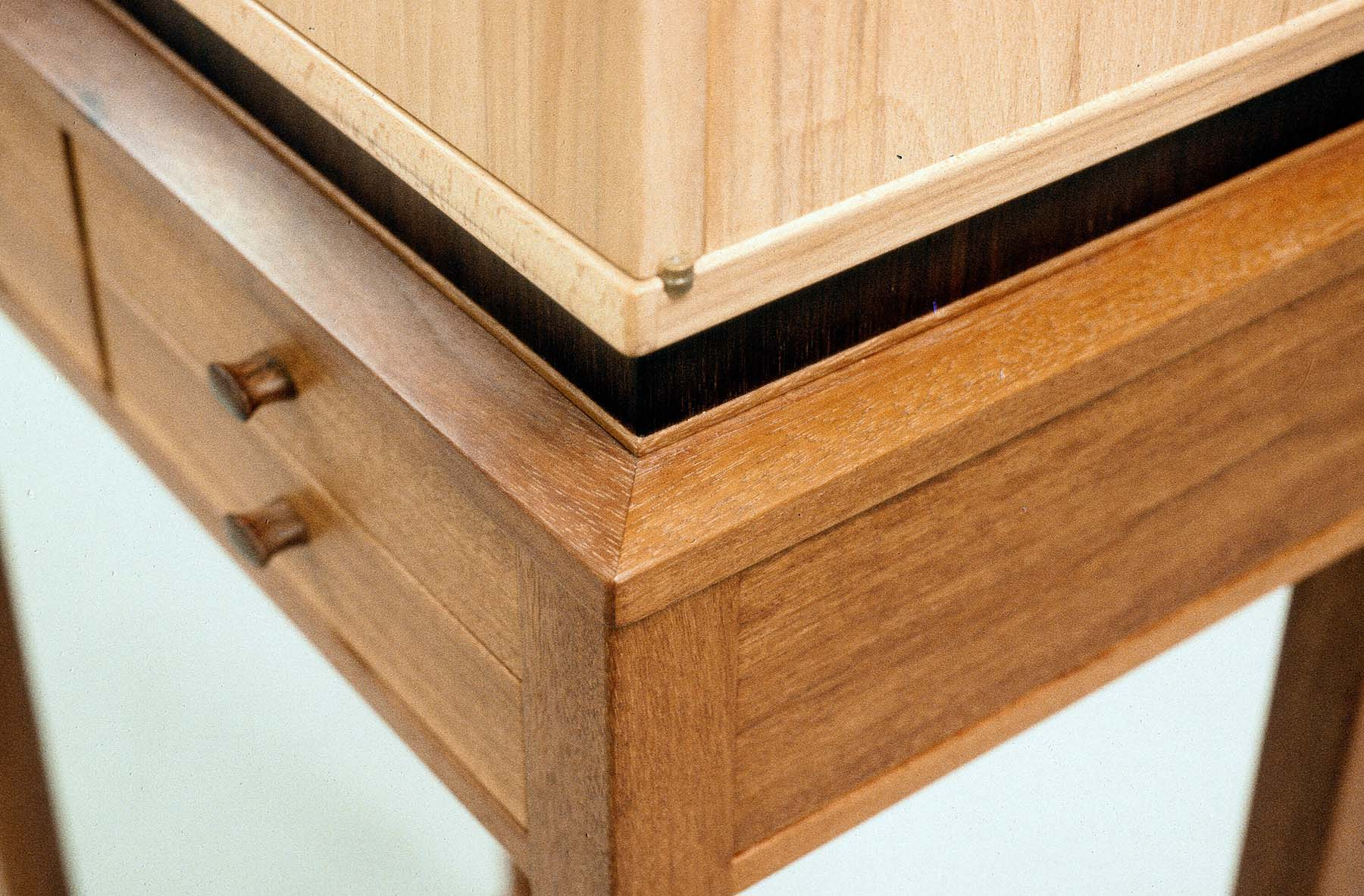 Beech Cabinet with Drawer Stand