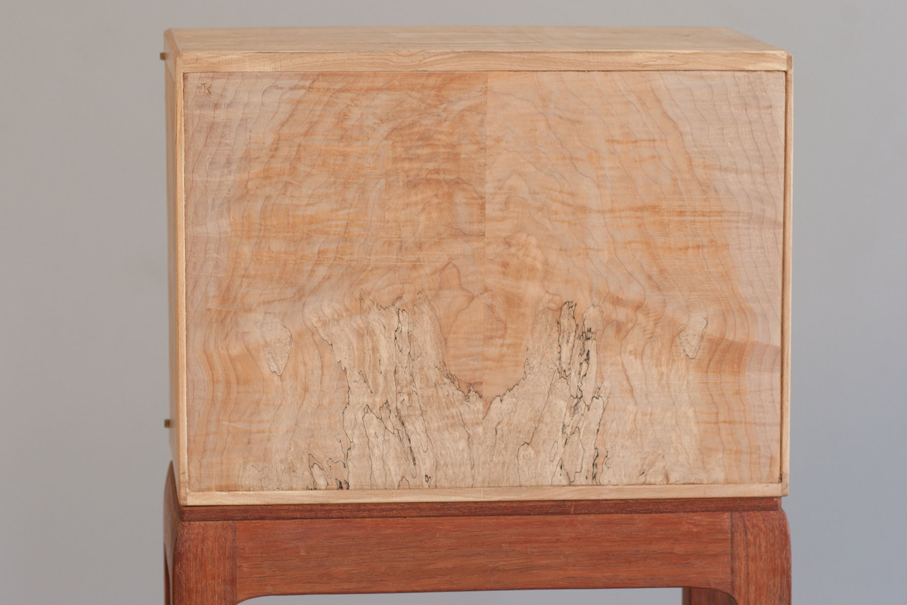 Spalted Maple Burl Cabinet